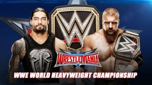 "Ladies and gentlemen, your main event matchup, as ""The Game"" defends his title against the ""Roman Empire!"""