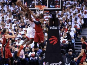 Bismack Biyombo came into the starting lineup, and took his game to new heights, helping propel the Raps into Round 3.