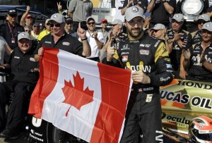 From near-tragedy, to pole position... Oakville, Ontario's James Hinchcliffe will start up front at this year's 500.